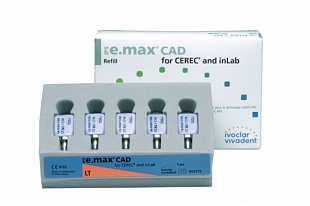 Блоки IPS e.max CAD for CEREC/inLab LT BL2 С14 5 шт.